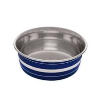 Dogit Stainless Steel Non-Skid Dog Bowl - Blue Striped - 560 ml (19 fl.oz.)