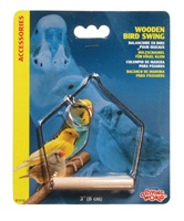 "Living World Wooden Bird Swing - Small - 7.5 x 10 cm (3"" x 4"" in)"