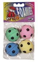 Catit Foamies Cat Toy Sponge Soccer Balls - 4 pieces