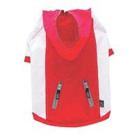 Dogit Spring/Summer 2011 Large Dog Clothing Collection - Hooded Raincoat - Red - Medium