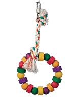 Living World Junglewood Bird Toy - Small Bead and Block Ring