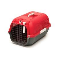 Catit Cat Carrier - Medium - Cherry Red - 56.5 L x 37.6 W x 30.8 H cm (22 x 14.8 x 12 in)