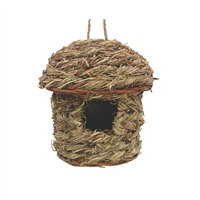 "Living World Outdoor Bird Nest - Orchard Grass - Hut - 14 cm x 14 cm x 18 cm (5.5"" x 5.5"" x 7"" in)"