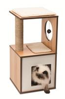 Catit Vesper V-Box - Walnut - Small - 37 x 37 x 72.5 cm