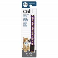 Catit Adjustable Breakaway Nylon Collar - Purple with Pink Bows - 20-33 cm (8-13 in)
