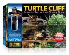 """Exo Terra Turtle Cliff Aquatic Terrarium Filter + Large Rock - 37 x 23 x 23.5 cm (14.5"""" x 9"""" x 9.2"""" in)"""