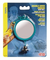 "Living World Double-sided Mirror with Bell - Large - 7 cm (2.8"")"