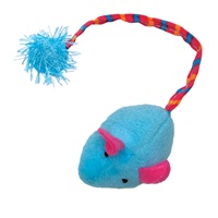 Cat Love Furry Frolics Cat Toy - Blue Plush Catnip Mouse