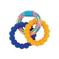 Zeus Mojo Brights TPR & Rope Ring Tug - 16 cm (6.25 in)
