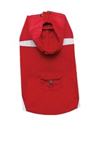 Dogit 2010 Spring/Summer Collection - Nylon Raincoat with Removeable Hood - Red - XLarge