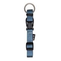 "Zeus Adjustable Nylon Dog Collar -  Denim Blue - Small - 1 cm x 22 cm-30 cm (3/8"" x 9""-12"")"