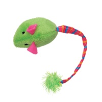 Cat Love Furry Frolics Cat Toy - Green Plush Catnip Mouse