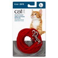 Catit Nylon Tie-out - Red - 6 m (20 ft)