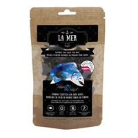 La Mer by Dogit Natural Fish Chew for Dogs - Herring Stuffed Cod Skin Rolls - Small - 90 g (3.2 oz)
