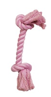 Dogit Dog Knotted Rope Toy - Pink Rope Bone - Small