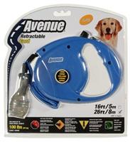 Avenue Dog Retractable Cord Leash - Blue - Large - 8 m (26 ft)