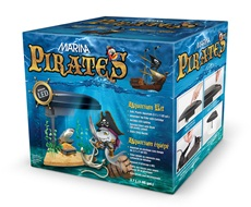 Marina Pirates Aquarium Kit - 3.7 L (1 US Gal.)