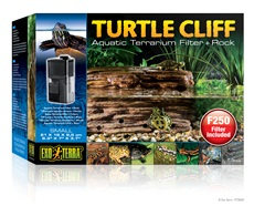 "Exo Terra Turtle Cliff Aquatic Terrarium Filter + Rock Small - 21 x 18x 9.5cm (8.3"" x 7"" x 3.7"" in)"