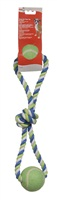 "Dogit Dog Knotted Rope Toy - Multicoloured 2-Ball Looped Tug - 46 cm (18"")"