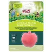 Living World Apple-Shaped Mineral Block for Birds - 31 g (1.1 oz)