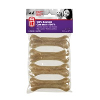 Dogit Pressed Rawhide Knuckle Bone - Small - 10 cm (4 in) - 30-35 g (1-1.2 oz) - 4 pack
