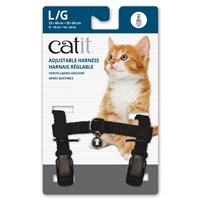 Catit Adjustable Nylon Harness - Black - Large