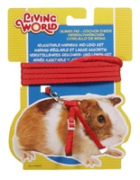 Living World Figure 8 Harness and Lead Set For Guinea Pigs - Red - 1.2 m (4 ft)