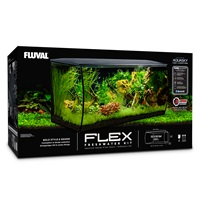 Fluval FLEX Aquarium Kit - Black - 123 L (32.5 US Gal)