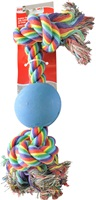 "Dogit Knot-A-Rope Tug Toy with Ball - 23 cm (9"")"