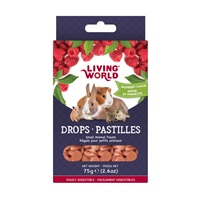 Living World Small Animal Drops - Raspberry Flavour - 75 g (2.6 oz)