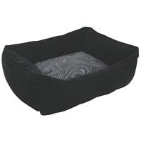 "Dogit Style Dog Rectangular Reversible Cuddle Bed-Retro, Black, Xsmall. 43.2cm x 35.6cm x 16.5cm (17"" x 14"" x 6.5"")."