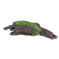 "Fluval Black Driftwood Replica with Moss - Medium - 25 x 7 x 6.5 cm (9.8"" x 2.7"" x 2.5"")"