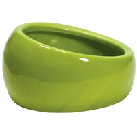 Living World Ergonomic Dish - Large - 420 mL (14.78 oz) - Green/Ceramic