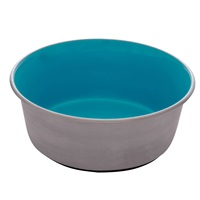 Dogit Stainless Steel Non-Skid Dog Bowl - Blue - 1.15 L (39 fl.oz.)