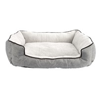 Dogit Dreamwell Cuddle Bed - Gray - 62 x 52 x 17 cm (24.5 x 20.5 x 6.5 in)