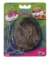 "Catit Jitter Critters Longhair Trembling Fur Mouse Cat Toy - 8.8 cm (3.5"")"