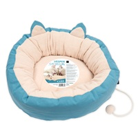 "Catit Vesper Cat Bed - XLarge - Blue - 60 x 60 x 20 cm (23.6"" x 23.6"" x 7.8"")"