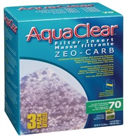 AquaClear 70 Zeo-Carb Filter Insert - 540 g (19 oz) - 3 pack