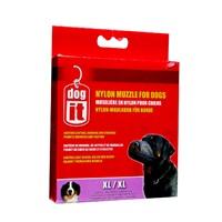 """Dogit Nylon Dog Muzzle - Black - X Large - 21.5 cm (8.5"""")"""