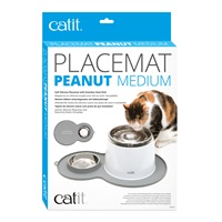 Catit Peanut Placemat Medium - Grey