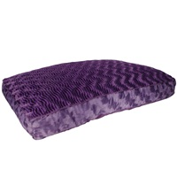 "Dogit Style Rectangular Mattress Dog Bed-Wild Animal, Purple, Small. 80cm x 55cm x 11.5cm (31.5"" x 21.5"" x 4.5"")."