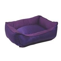 "Dogit Style Dog Rectangular Reversible Cuddle Bed, Glam, Purple, Xsmall. 43.2cm x 35.6cm x 16.5cm (17"" x 14"" x 6.5"")"