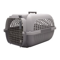Dogit Voyageur Dog Carrier - Light Grey/Charcoal - Medium - 56.5 cm L x 37.6 cm W x 30.8 cm H (22 in x 14.8 in x 12 in)