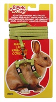 Living World Adjustable Harness and Lead Set for Rabbits - Green - 1.2 m (4 ft)
