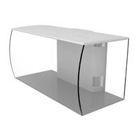 Fluval Replacement Glass Aquarium for Fluval Flex 123 L (32.5 US gal) Aquarium Kit - White