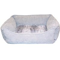 "Dogit Style Dog Rectangular Reversible Cuddle Bed-Wild Animal,Grey, Xsmall. 43.2cm x 35.6cm x 16.5cm (17"" x 14"" x 6.5"")."