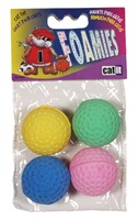 Catit Foamies Cat Toy Sponge Golf Balls - 4 pieces