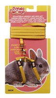 Living World Adjustable Harness and Lead Set For Dwarf Rabbits - Yellow - 1.2 m (4 ft)