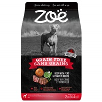 Zoë Dog Grain Free, Beef with Peas & Pumpkin Recipe - 2 kg (4.4 lbs)