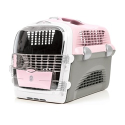 Catit Design Cabrio Cat Multi-Functional Carrier System - Pink/Gray - 51 cm L x 33 cm W x 35 cm H (20 in x 13 in x 13.75 in)